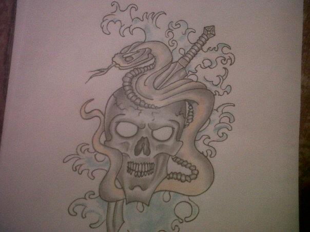Skull and snake drawing by richyreynolds on deviantart skull and snake drawing by richyreynolds thecheapjerseys Choice Image
