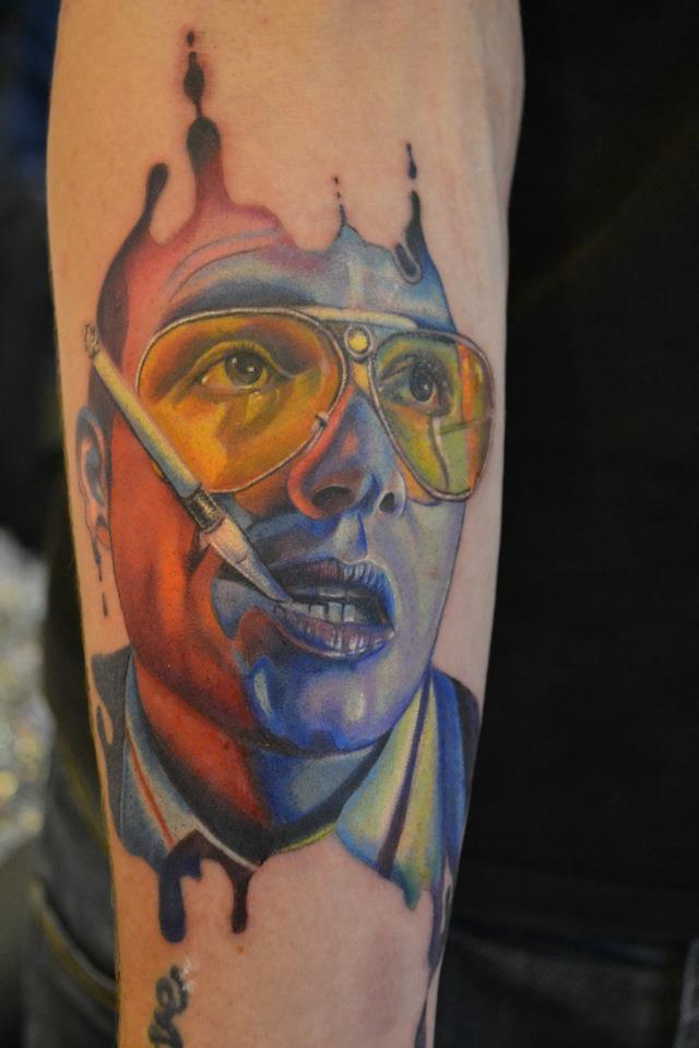 Johnny Depp in fear and loathing tattoo by Richyreynolds