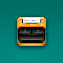 Typewriter iOS Icon by marc2o