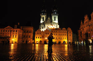 Praha night by quinti