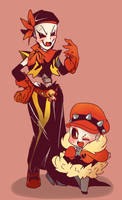 Underfell Skelesisters by thegreatrouge
