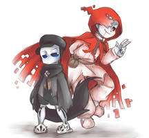 Underswap Reaper And Geno (Harvest and Holo) by thegreatrouge