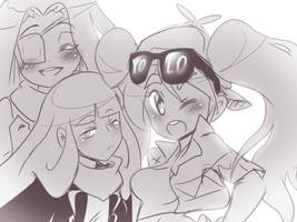 Magicaltale Geno, Error and Fresh by thegreatrouge