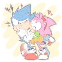 Sonic And Amy by thegreatrouge
