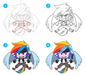 Step By Step Chibi RD by thegreatrouge