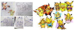 Redraw Of Old Pika Ocs (2008/2020)