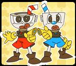 Cup And Mug Mascots (old sketch, new art)