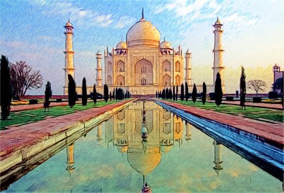 Taj-mahal(sketch) by T-Douglas-Painting on DeviantArt