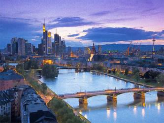 Frankfurt-Hesse-Germany by T-Douglas-Painting
