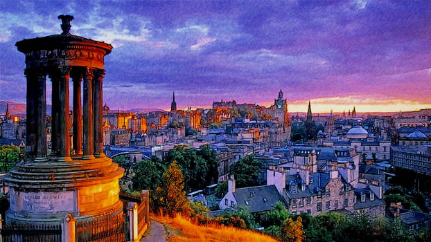 Stewart Monument Calton Hill Edinburgh Scotlan