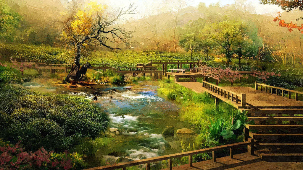 Nature Scenery Wallpapers 2012 By T Douglas Painting