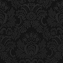 Black Damask Tile by rwhite