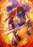 Fire Emblem Roy Lilina FEH IKHC 07 18 by IKHC