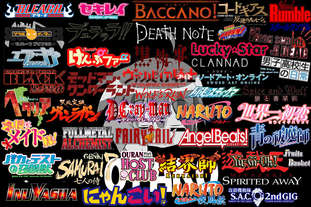 Anime Logo Collage Wallpaper by xAsaChan on DeviantArt