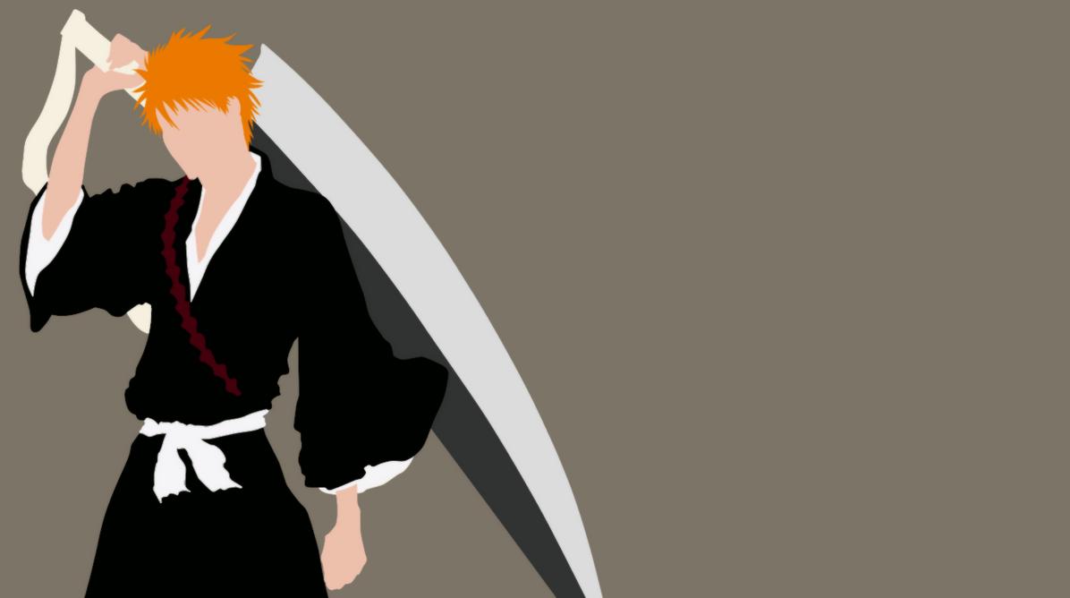 Minimalistic Ichigo Wallpaper by xAsaChan on DeviantArt