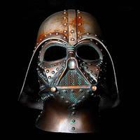 STeampunk Darth Vader Rusted Battle damaged helmet