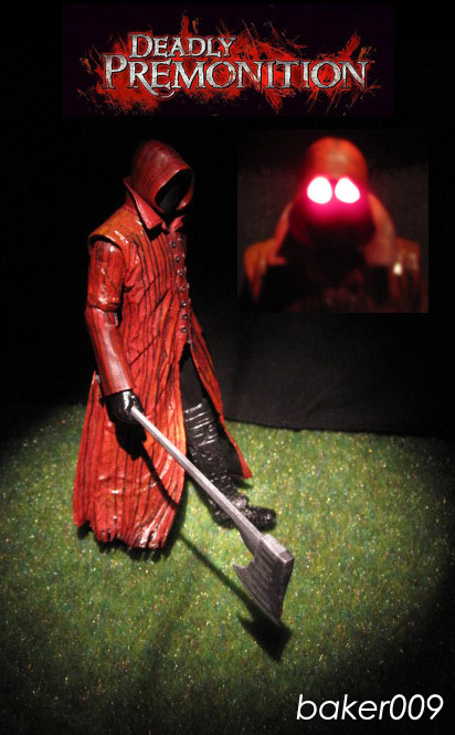Deadly Premonition Raincoat Killer with LED eyes by Baker009