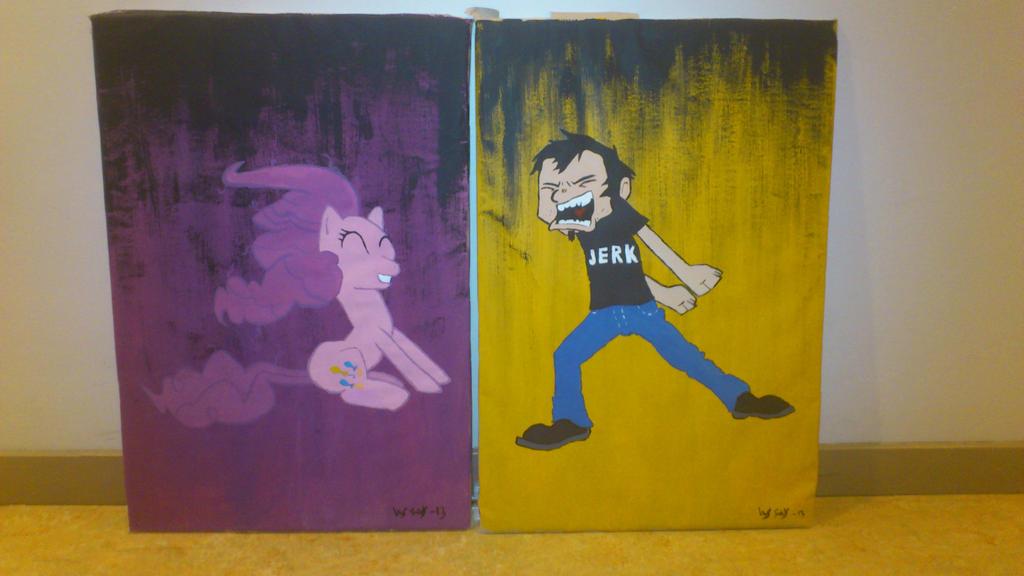 Pinkie and Dan by Zniddan