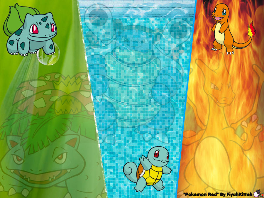 let s play pokemon red wallpaper by fiyahkitteh on deviantart