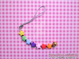 Cellphone Charm: *Rainbow Stars* (Cheerful Line)