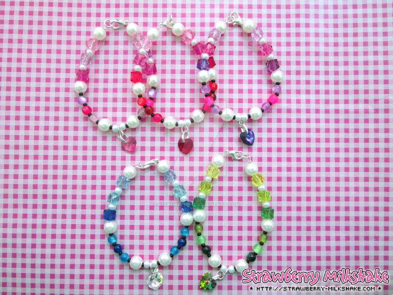 Valentine's Day Swarovski-Heart Bracelet by FiyahKitteh