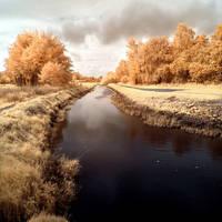 River Pinnau infrared by MichiLauke