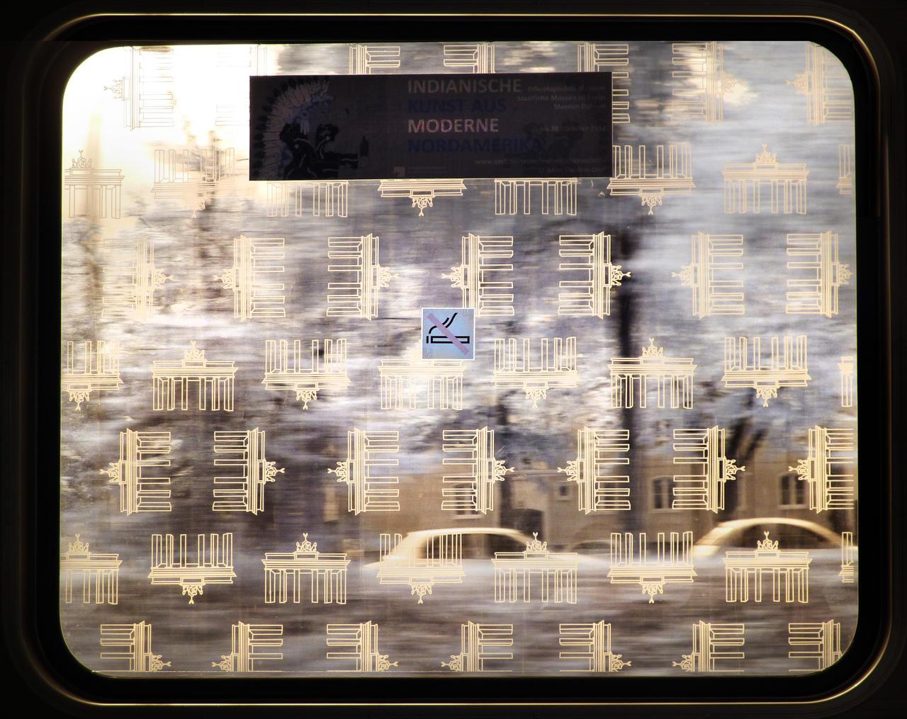 Berlin Underground Railway Window infrared by MichiLauke