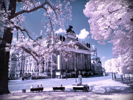 City Center of Dresden infrared