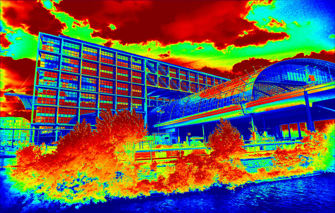 Berlin - Central Station infrared by MichiLauke