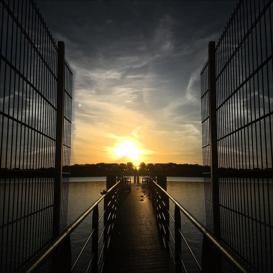 Sunset Tegeler See II Berlin by MichiLauke