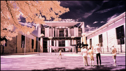 German Chancellors Office - infrared by MichiLauke