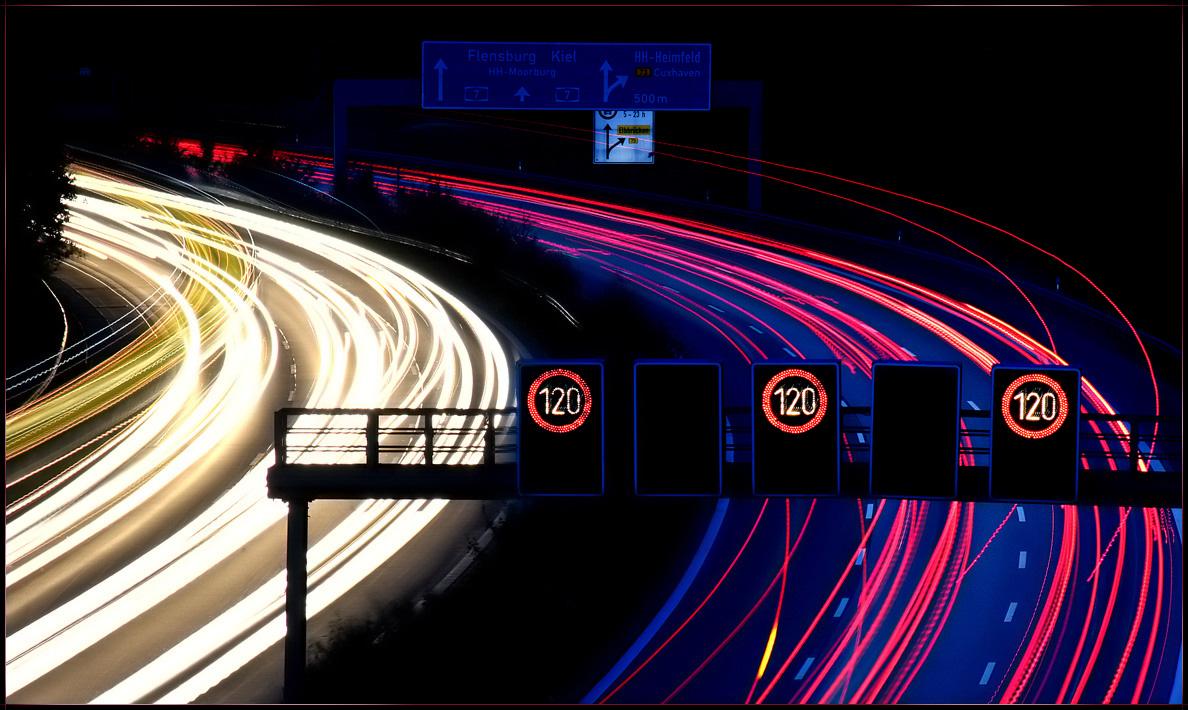 Highway at night...