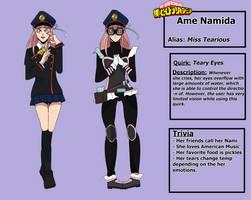 BNHA Shiketsu OC: Ame Namida Reference Sheet by Ani-Baka