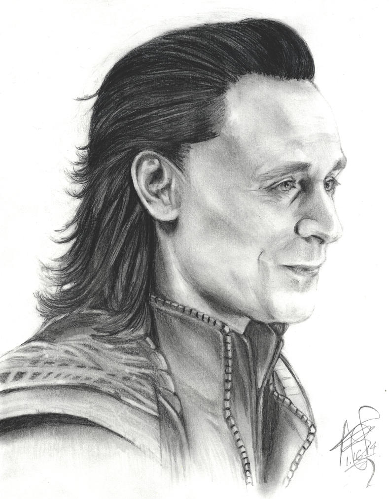 Portrait of Loki - Remastered by twilight-girl22
