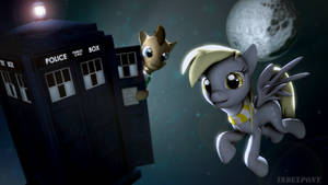 Doctor and Derpy by Lucario-Ace