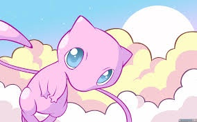 cute mew in clouds by shinyflygon123