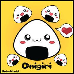 Kawaii Onigiri by Berryblitzstudio