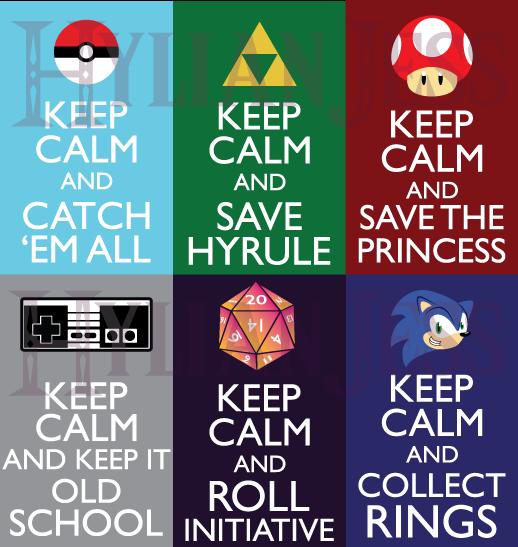 Keep Calm Fandom Badges: Gaming by HylianJess