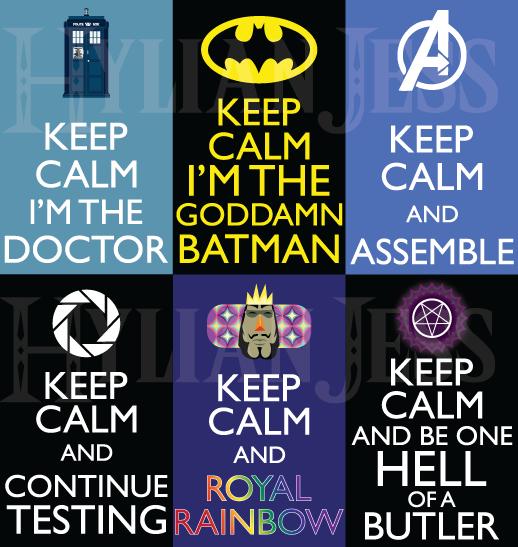 Keep Calm Fandom Badges: Misc 1 by HylianJess