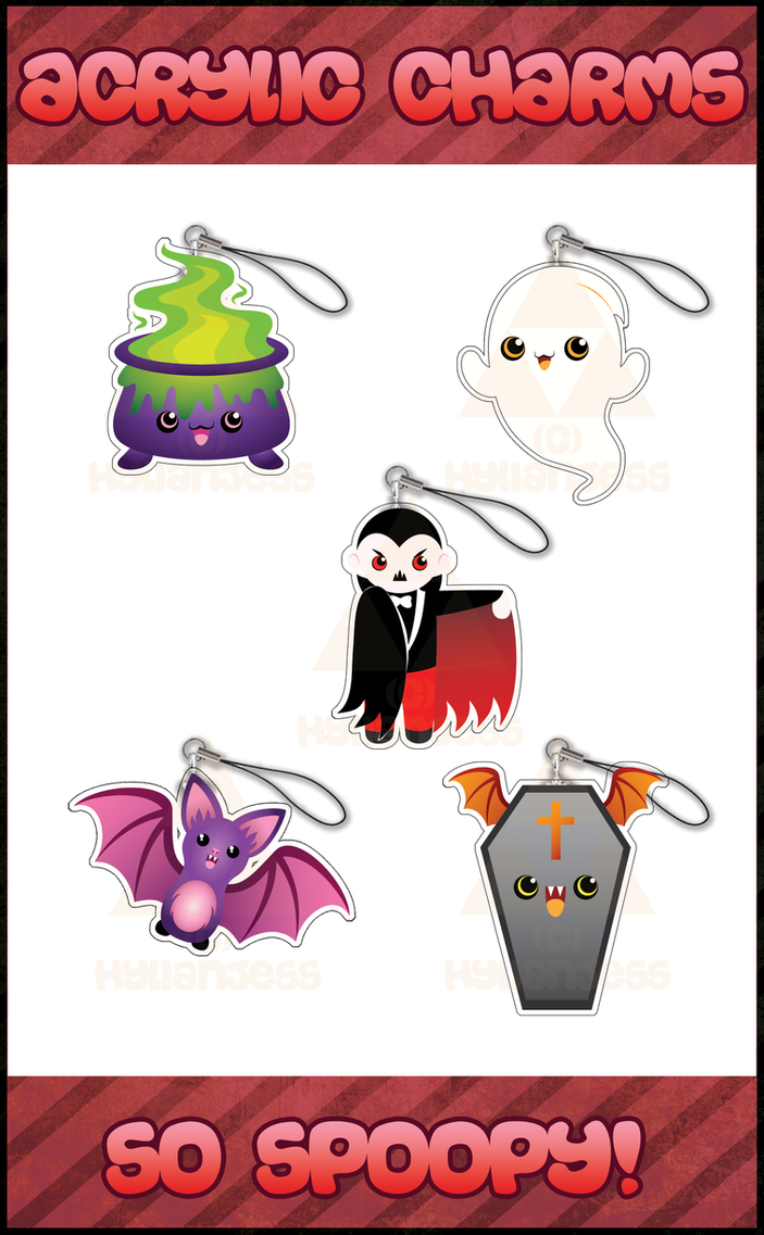 SO SPOOPY Charms and Keychains by HylianJess