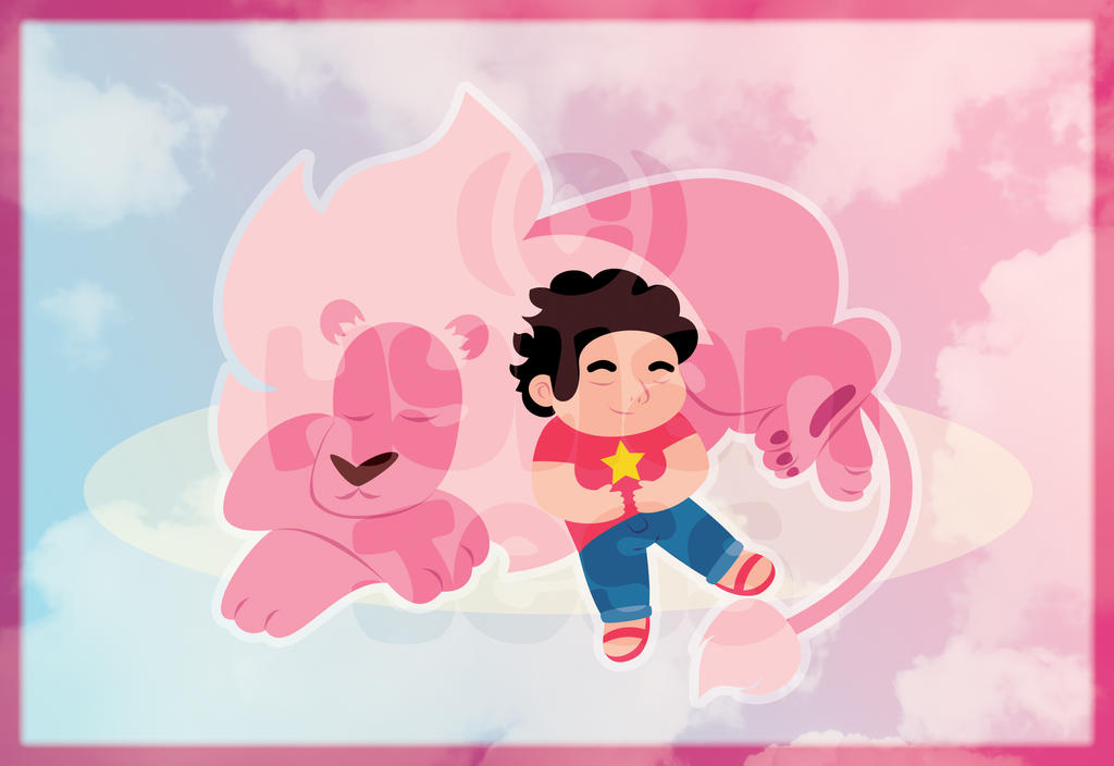 Steven and Lion by HylianJess