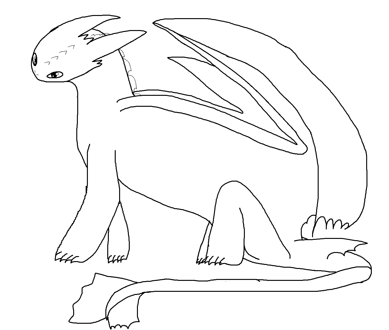 Night fury coloring pages images