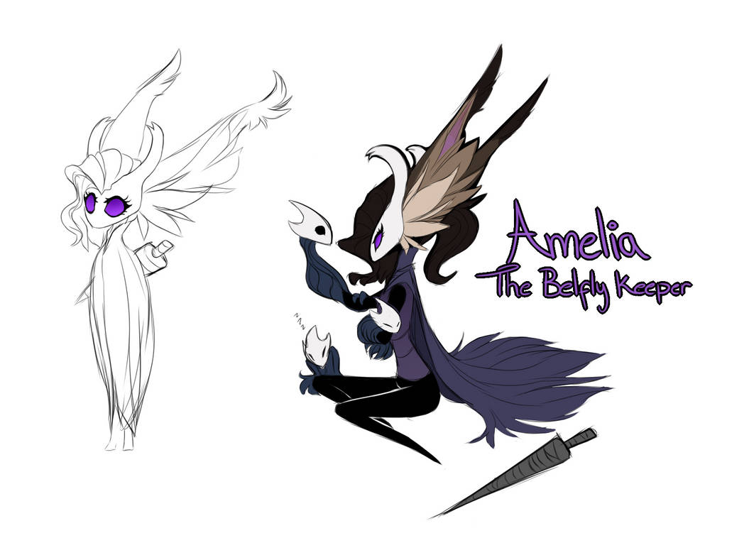 Amelia Hollow Knight style doodles by EternityOfNightmares