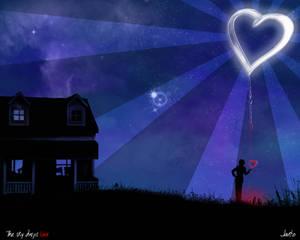 The sky drips love