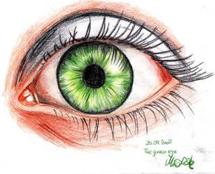 Greeeen eye by Mixxysart