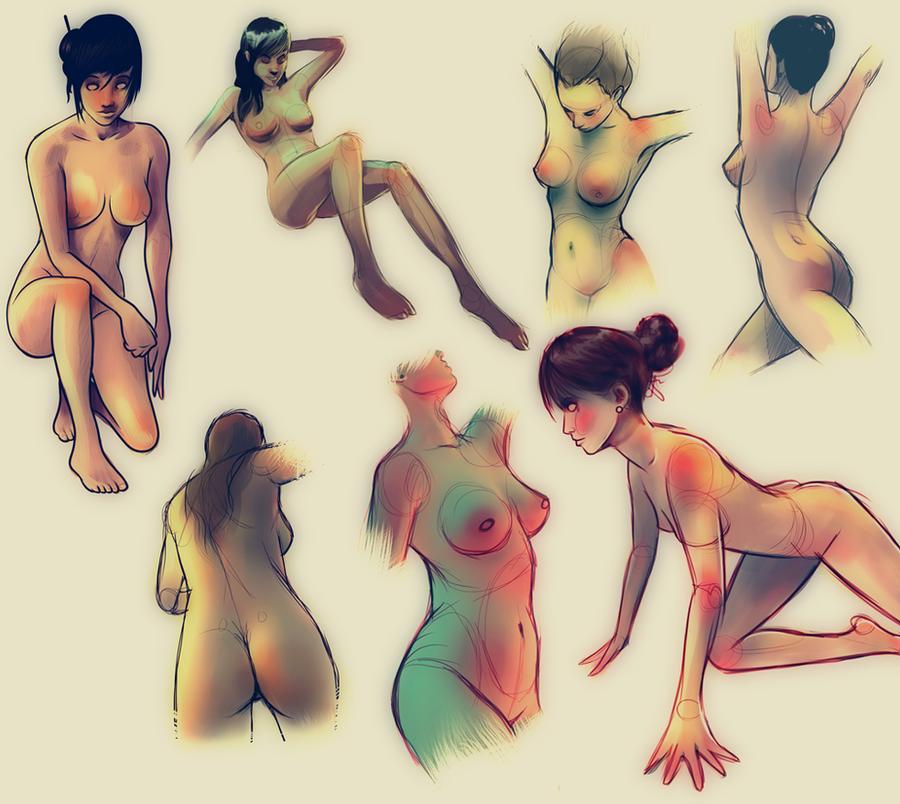 Studies Of Female Anatomy By Vincenthachen On Deviantart