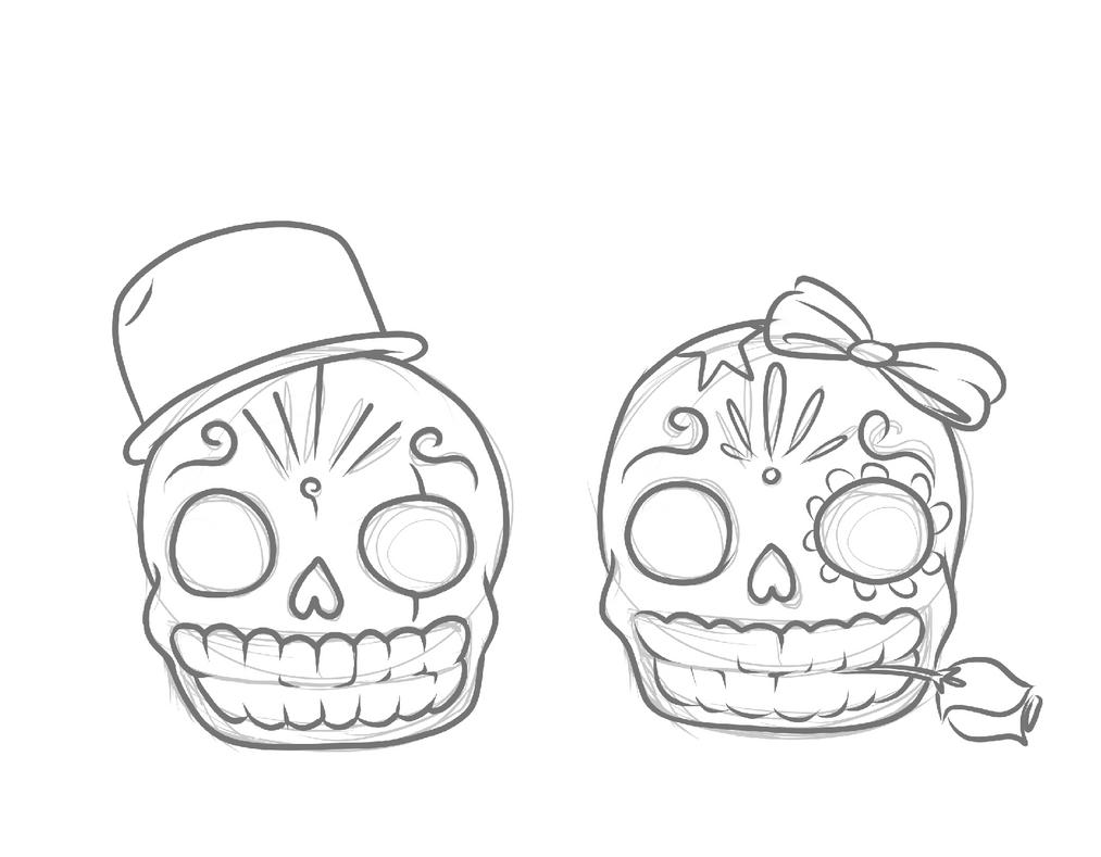 Hermosa Para Colorear Cráneo De Azúcar Imprimible Ideas - Dibujos ...