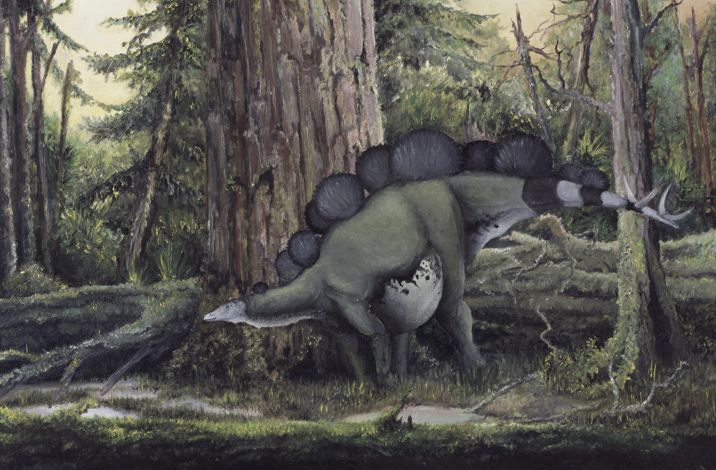 Awesome Paleoart  Walking_in_the_morrison_forest_by_antresoll-d6mrfpe