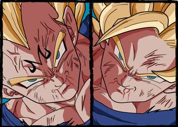 Vegeta vs Goku by RobyG
