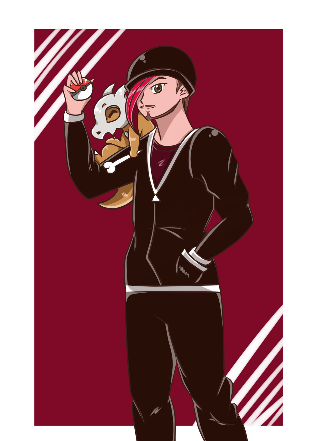 Pokemon trainer Jake- gift  by PlatinaSena